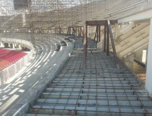 اجرای سقف عرشه فولادی در ورزشگاه نقش جهان اصفهان